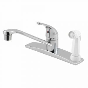 Pfister Pfirst Series kitchen faucet with side spray