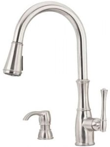 Pfister Wheaton kitchen faucet with soap dispenser