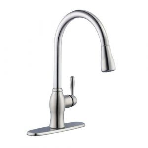 67403-1108D2 1050 Series kitchen faucet in stainless steel by Pegasus