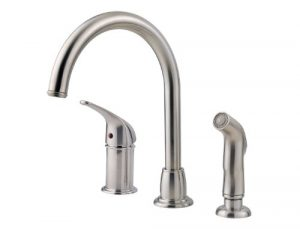 Faucet for kitchen sink Pfister LF-WK1-680S Cagney with side spray