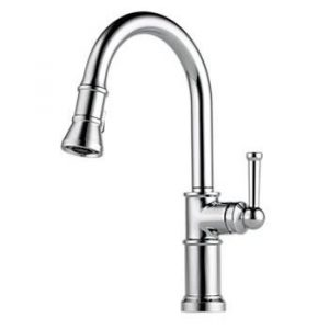 Brizo Artesso 63025LF-PC kitchen faucet with pull down spay head