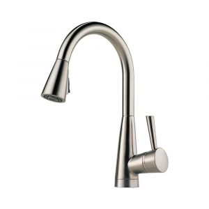 Venuto 63070LF-SS kitchen faucet by Brizo with pull-down spray with Magnedock Technology