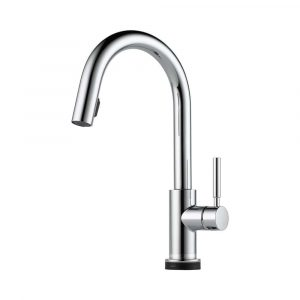 Brizo faucet Solna 64020LF-PC with Smart Touch and multi functional pull-down spray head