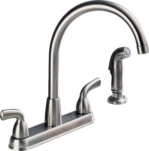 Peerless faucet P99578LF-SS-D Choice with two handle and sprayer