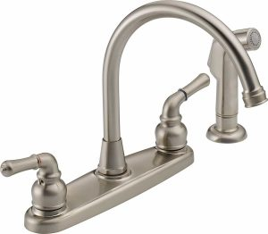 Two handle kitchen faucet Peerless WAS01XNS with spray