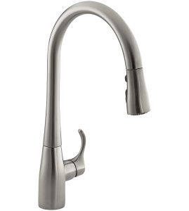 Kohler K-596-VS Simplice pull down kitchen faucet review