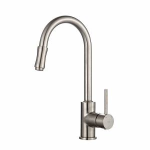 Kraus KPF-1622SN pull-down kitchen tap with satin nickel finish