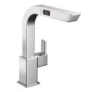 Moen S7597C 90° 1 handle pullout chrome kitchen faucet